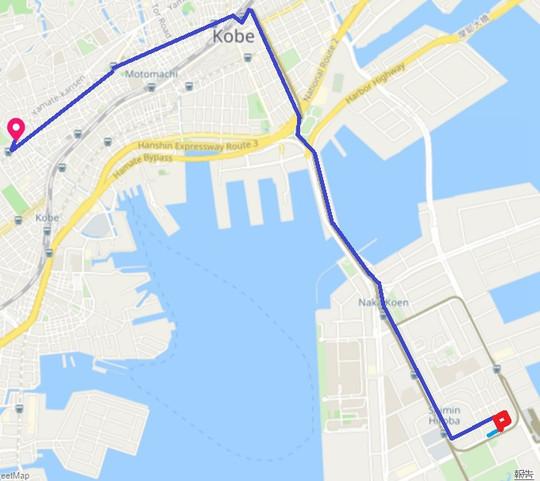 神戸の地図 中央区楠町8-10-1